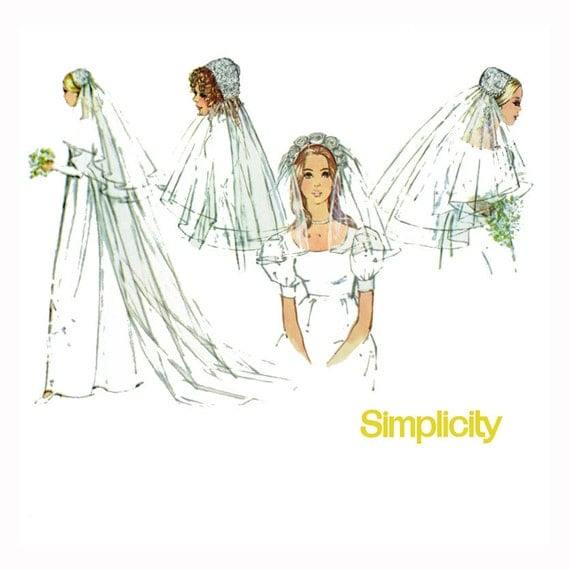 Wedding Veils And Headpieces Patterns: Bridal Veils & Headpiece Pattern Simplicity 9826 By