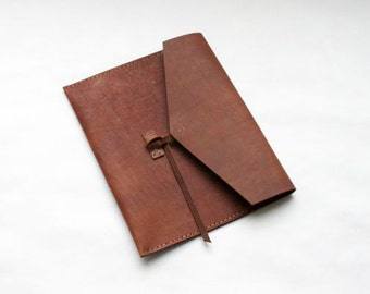 Leather Ipad Case, Leather Folio or Clutch- Cover Only