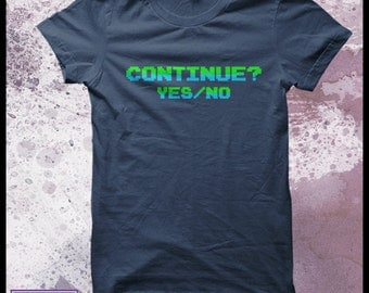 "Game over 8 bit retro t-shirt men's - gamer t-shirt ""Continue"""