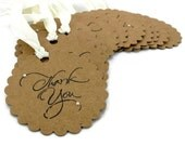 Kraft Thank You Tags - Set of 12