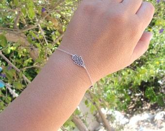 Evil Eye Bracelet, Protection Bracelet, Hamsa Bracelet, Sterling Silver Hamsa Bracelet, hand bracelet, Hamsa