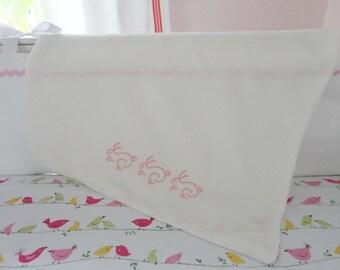 Monogram Silk Baby Blanket / Baby Gift / Baptism Gift
