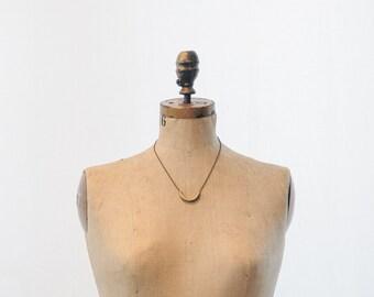 Selene Simple Brass Charm Necklace