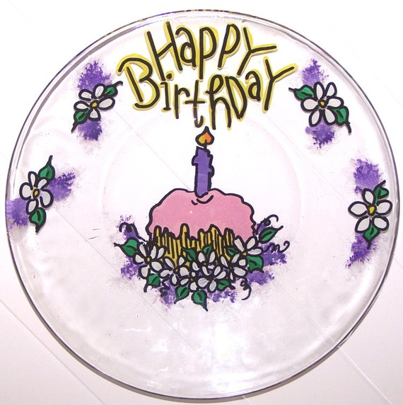 Happy Birthday Plate You Personalize
