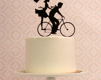 bicycle wedding cake topper uk the original custom silhouette wedding cake by 11736