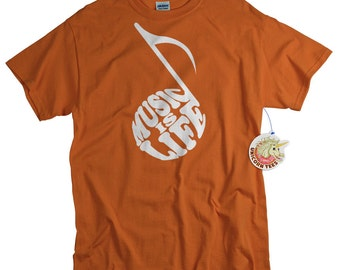 Music Lover T shirt Quaver 8th Musical Note Tee Shirt Musician Tshirt Funny Shirt Recital Birthday Gift Men Women son daughter boyfriend