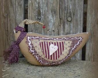 """Pattern: Boyd - 4"""" Gingerbread Bird"""