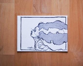 Bride of Frankenstein 5x7 Letterpress Print on 100% Cotton Paper