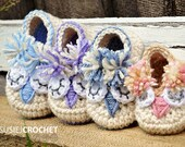 Crochet Pattern for Baby Booties - Little Owl Shoes - PDF Instant Download