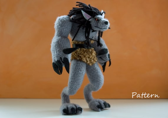 CROCHET PATTERN for World of Warcraft  Worgen / amigurumi pattern for WOW worgen toy / crochet tutorial for Werewolf doll / gift for a gamer