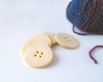Large wood buttons - handmade wood craft