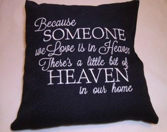 Pillow, Religious, Housewarming gift, Heaven Pillow decor,  Mothers Day Gift, Monogram, Birthday Gift, Anniversary Gift, Friend gift