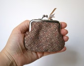 Fabric Metal Coin Purse, Coin Purse Silver Frame, Jewelry Bag, Penny Bag