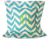 Preppy Monogrammed Chevron Pillow Cover Graduation Gift Boutique Personalized
