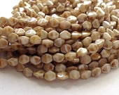 Czech glass pinch beads - glass pinch beads - white picasso luster 50