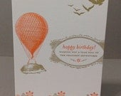 Hedgehog Bday - Letterpress Card
