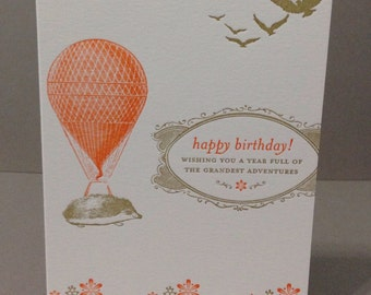 Hedgehog Bday - Letterpress Card