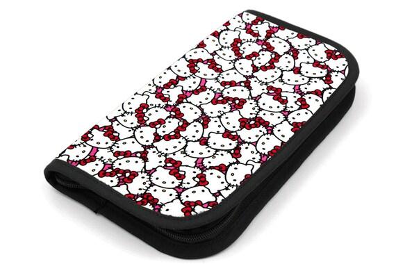 Travel Zip Around Knitting Needle Case - Hello Kitty - black pocket organizer