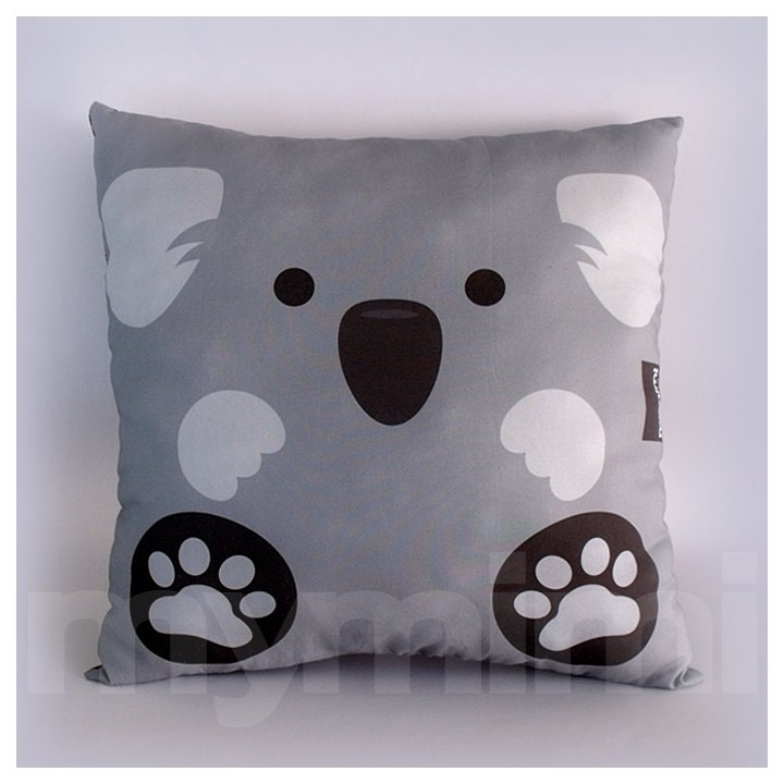 12 x 12 Pillow Koala Bear Animal Pillow Stuffed