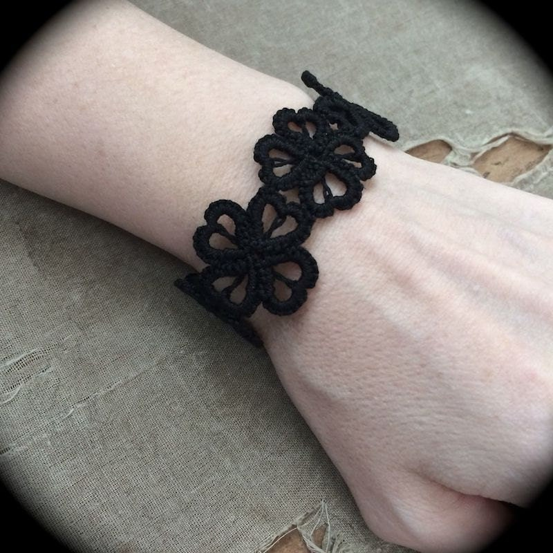 https://www.etsy.com/listing/176143339/tatted-cuff-bracelet-hearts-and-clovers?