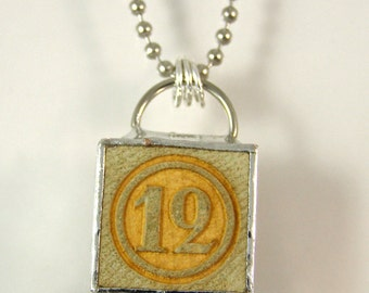Number 12 Pendant Necklace