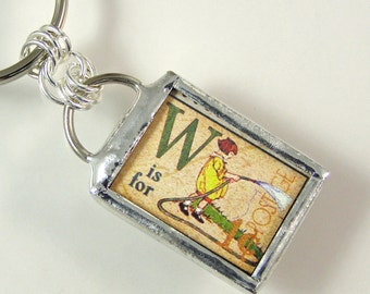 W is for Water Keychain