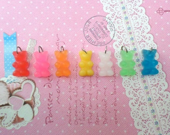 Best Friend Gummy Bear Necklaces: Pick Your Flavor, Food Jewelry, Food Necklace, 2 Besties