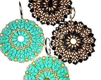TUTORIAL for Ndbele Twin or Super Duo Beaded Earrings or Pendant
