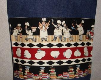 New Large Handmade Chef Kitchen Cook Denim Tote Bag