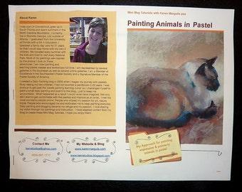 Pastel Painting Lesson Demo PDF How to Paint Animals Art Tutorial Cats Pet Portraits booklet