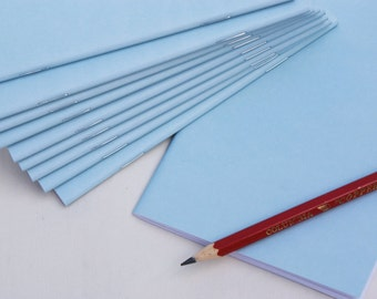10 pack, Recycled, Made in Australia, A6 Light Blue notebooks, blank