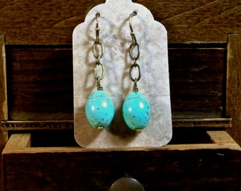 Robin's Egg Blue Turquoise Earrings