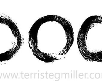 Thermofax Screen - Paintbrush Circles
