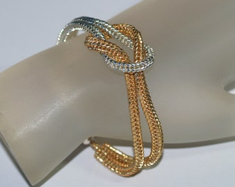 Glam ... Knotted Bracelet . Love Knot . Silver . Gold . Magnetic Closure . Chic . Modern . Handmade Jewelry . Knot Ready for Prime Time