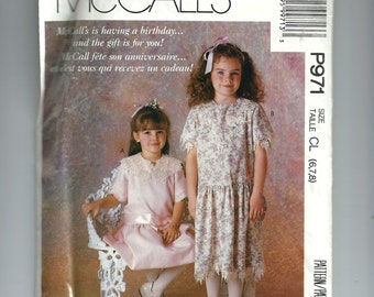 McCalls Girl's Drsss Pattern P971