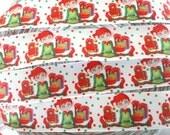 "7/8"" Christmas Elf grosgrain ribbon"