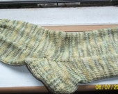Hand knit superwash hand dyed superwash merino unisex   wool socks stockings yellow  green  SIZE 8-11 M L