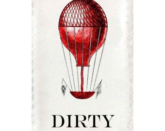 Dishwasher magnet Clean Dirty Victorian Hot Air Balloons Magnet flip Sign red blue NOW Stainless Steel Option  laurdry sign