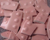Mosaic TiLes knobby bumpy dots pink  Solids Tile Broken China Plate Art Supply