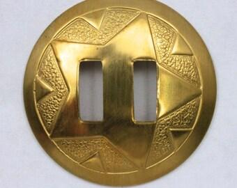 35mm Raw Brass Star Concho #1991