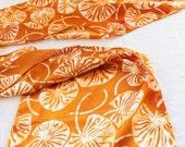 gold lilypad batik silk scarf