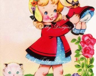Me and My Favorite Doll Vintage Digital Greetings Card Download Printable Images (388)