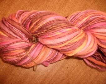 Bulky Handspun yarn merino yarn 118 yd  3.9 oz.