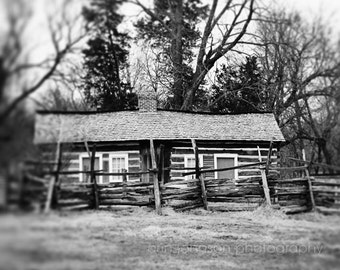rustic landscape photography black and white cabin farm home decor wall art cabin photograph