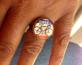 Bicycle Penny Ring - Lucky Penny  Ring // Hipster Bike Ring - Adjustable sizes 5-9