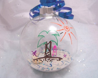 Personalized Beach Theme Ornament