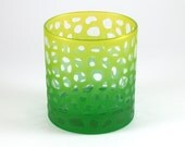 River Rocks LowballDOF Tumbler Glass - Etched and Painted Glassware - Custom Made Barware