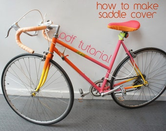 Bicycle seat/saddle cover tutorial-drafting the pattern and sewing