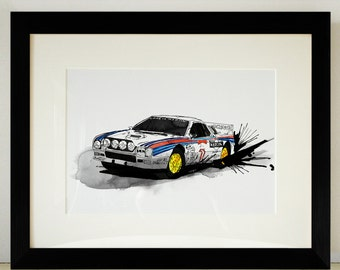 Lancia 037 Rally Car Illustration