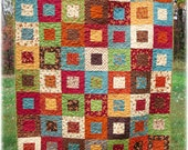 Lap Quilt framed patchwork scrappy Autumn Fabulous Fall